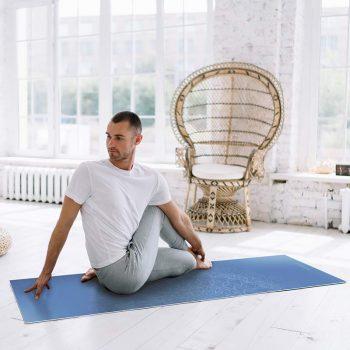 Yoga mat mandala blue clase de yoga