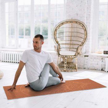 Yoga mat mandala orange clase de yoga