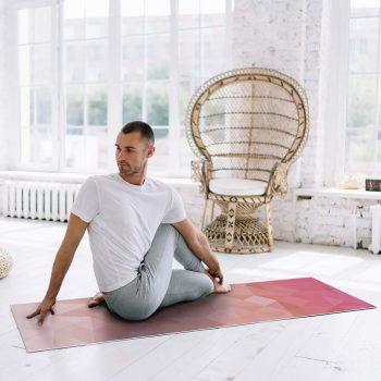 Yoga mat triangles pink clase de yoga