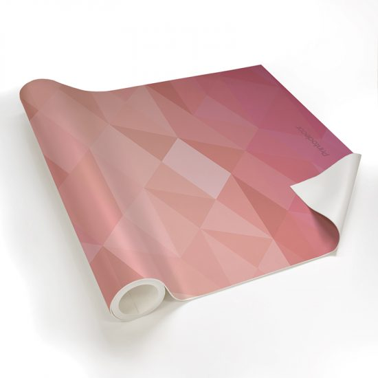 Yoga mat triangles pink detalle material