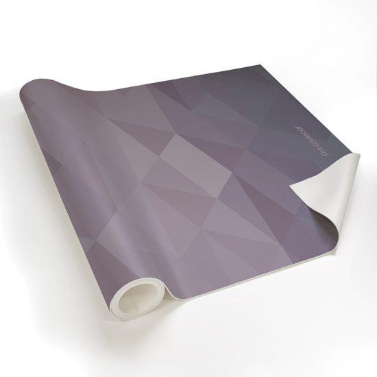 Yoga mat triangles purple detalle material