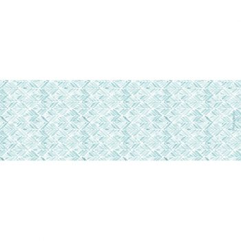 Yoga mat blue leaves 180 x 60 cm