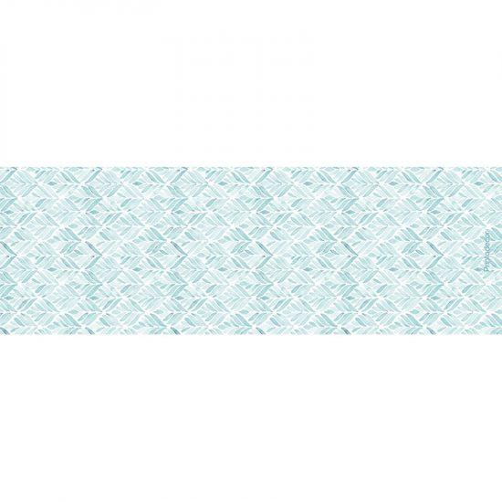 Yoga mat blue leaves 180 x 60 cm