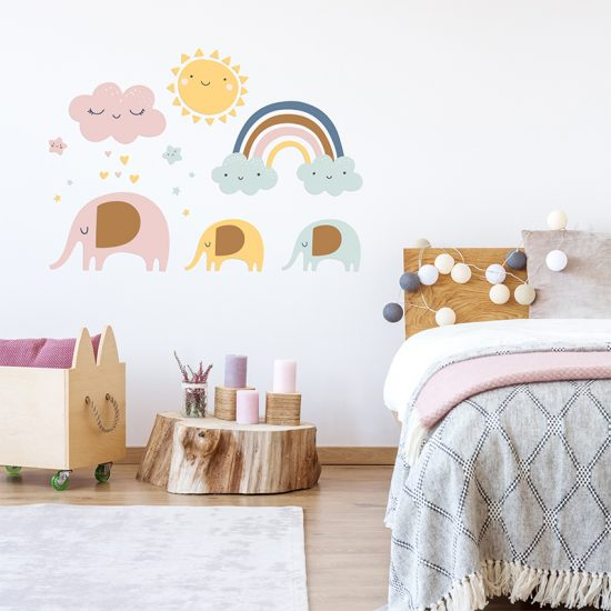 Vinilo infantil family day dormitorio infantil