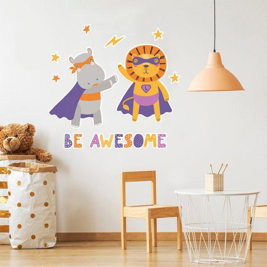 Vinilo infantil superpoderes habitación