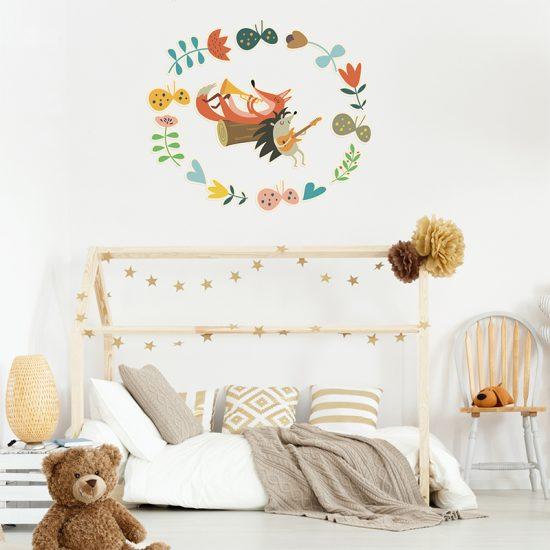 Vinilo infantil music jungle dormitorio infantil
