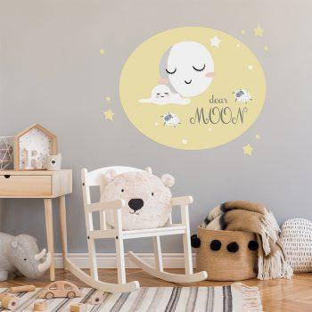 Vinilo infantil sueños felices dormitorio infantil