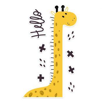 Vinilo infantil hello girafa