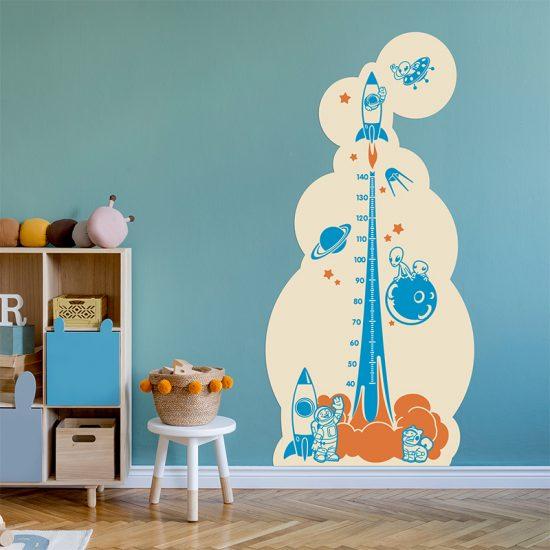 Vinilo infantil medidor espacial dormitorio infantil