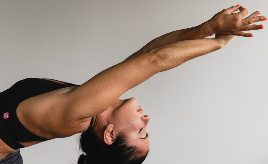 Yoga mat estiramiento