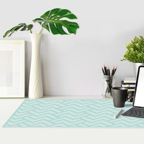 Protector de escritorio Zigzag turquesa mesa oficina