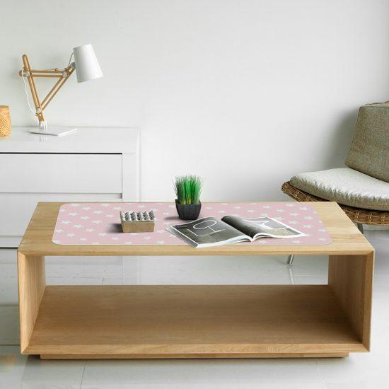 Protector de escritorio Pink stars mesa salón