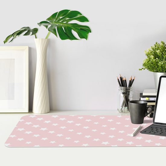Protector de escritorio Pink stars mesa oficina