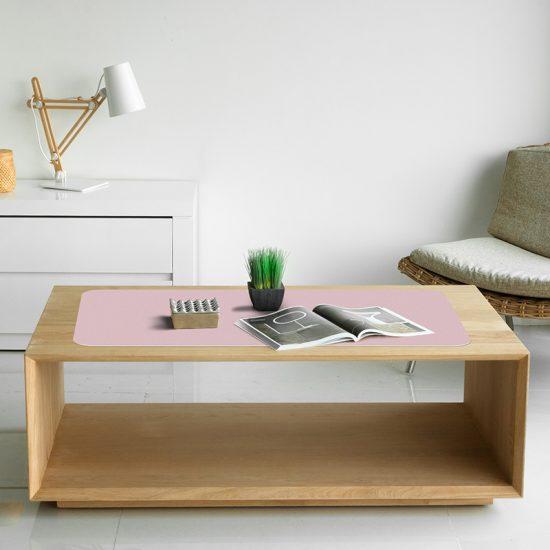 Protector escritorio rosa mesa salón