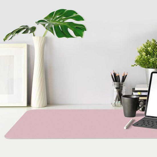 Protector escritorio rosa mesa oficina