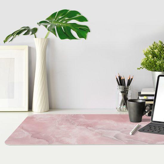 Protector de escritorio Pink Marble mesa oficina