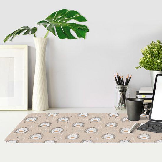Protector de escritorio Erizos estrellitas marrón mesa oficina