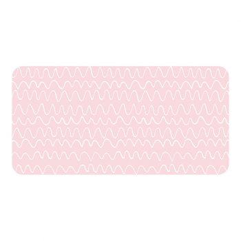 Protector de escritorio ondas rosas 80 x 40 cm