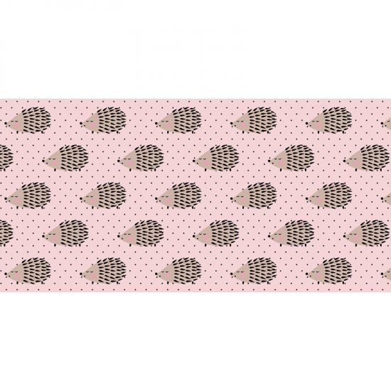 Alfombra vinílica infantil Erizos rosa 97 x 48 cm