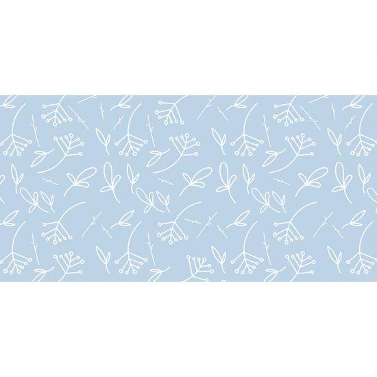 Alfombra vinílica infantil plantitas azul cielo 97 x 48 cm