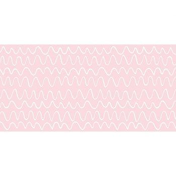 Alfombra vinílica infantil Ondas rosas 97 x 48 cm