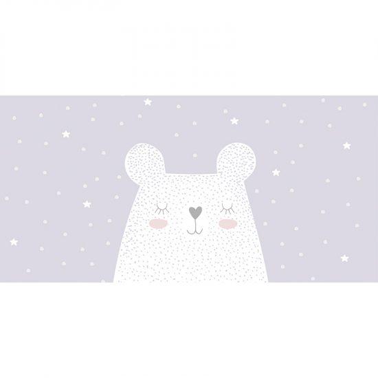 Alfombra vinílica infantil oso soñador 97 x 48 cm