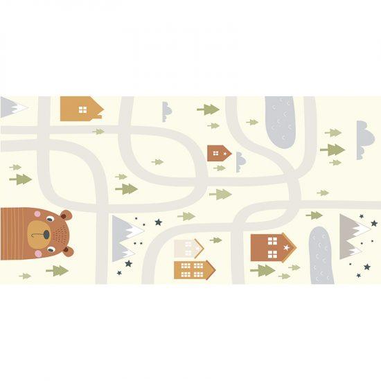 Alfombra vinílica infantil camino oso 97 x 48 cm