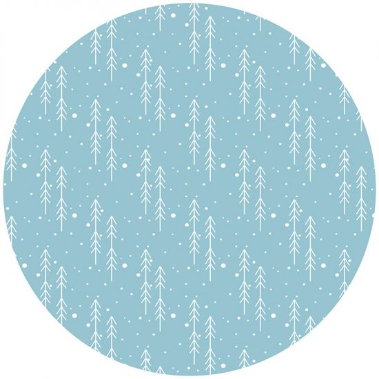 Alfombra vinílica infantil redonda flechas azules 60 x 60 cm