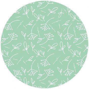 Alfombra vinílica infantil redonda plantas verdes 60 x 60 cm
