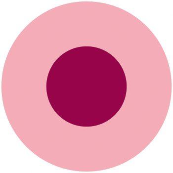 Alfombra vinílica infantil redonda rosa y fucsia 60 x 60 cm
