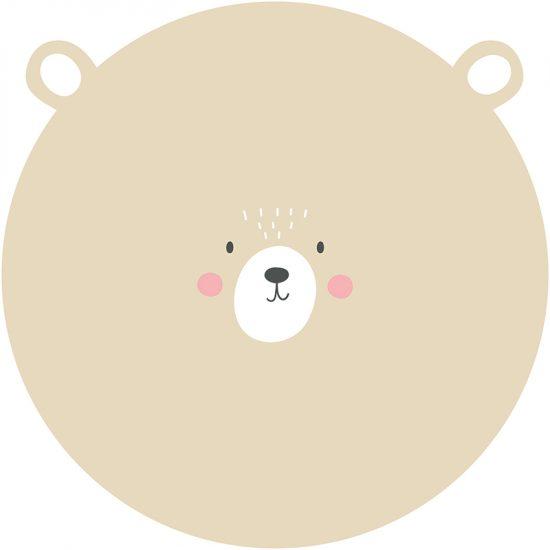 Alfombra vinílica infantil redonda dulce oso 60 x 60 cm