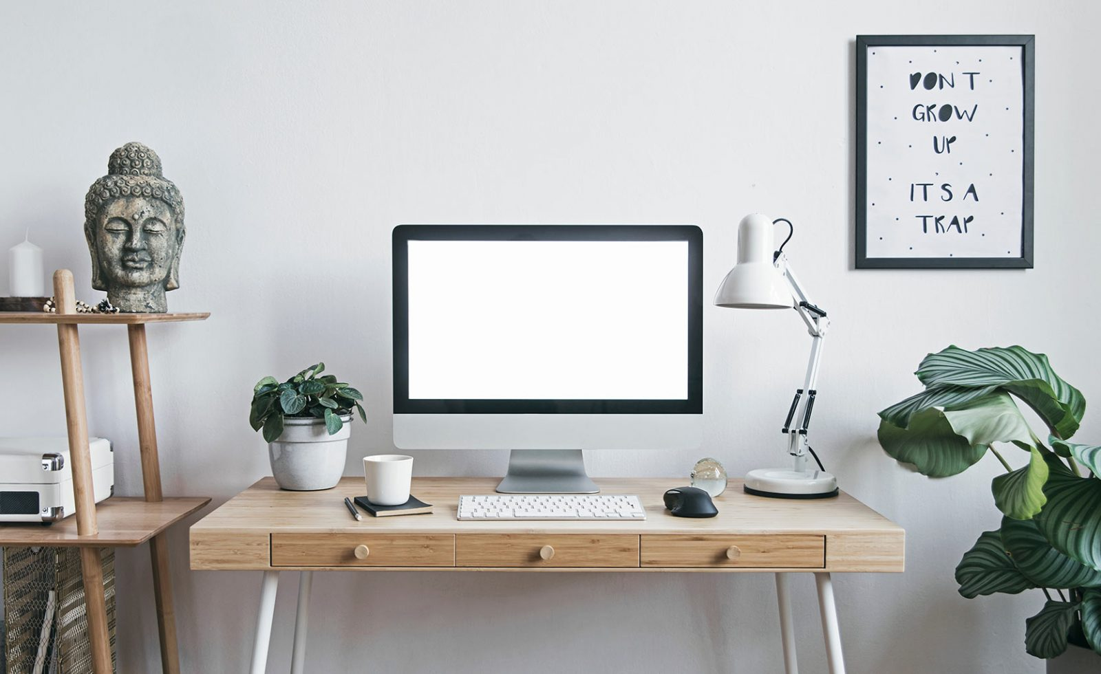 decoración mesa oficina