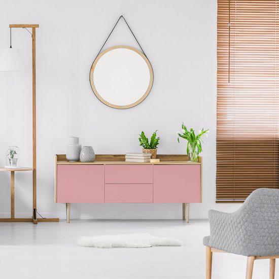 Vinilo decorativo rosa salón