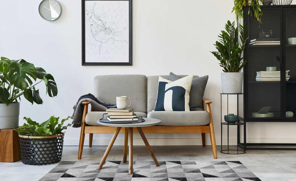 alfombra de vinilo gris