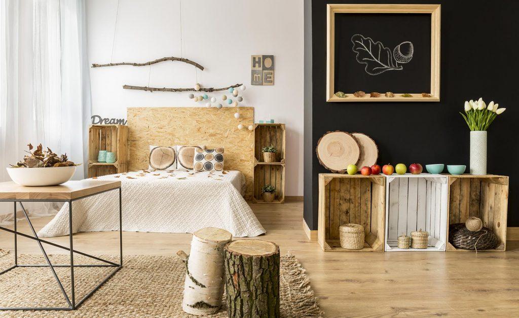 Decoración nórdica madera