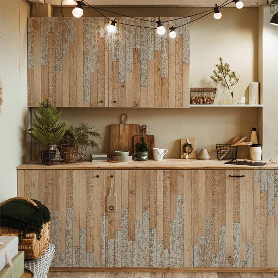 vinilo decorativo 0005 Wood Love cocina