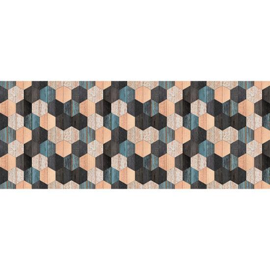 vinilo decorativo Wood Hexagons 200x80 cm