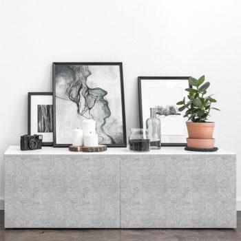 vinilo decorativo Stucco Celine , mueble