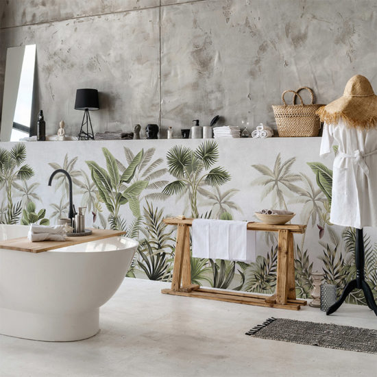 vinilo decorativo Tropic Texturado, baño