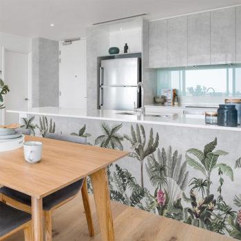 vinilo decorativo tropic Flower, cocina