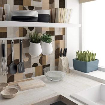 vinilo decorativo Bauhaus madera cocina