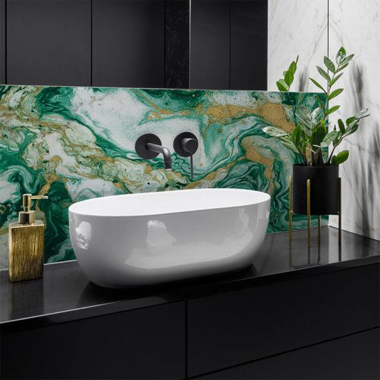 vinilo decorativo Green Marble, baño