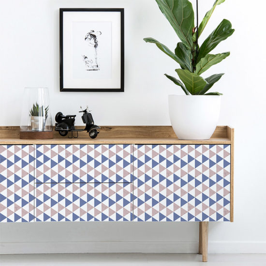 vinilo decorativo Pattry Blue recibidor