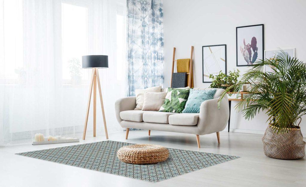 Alfombras vinílicas sofá