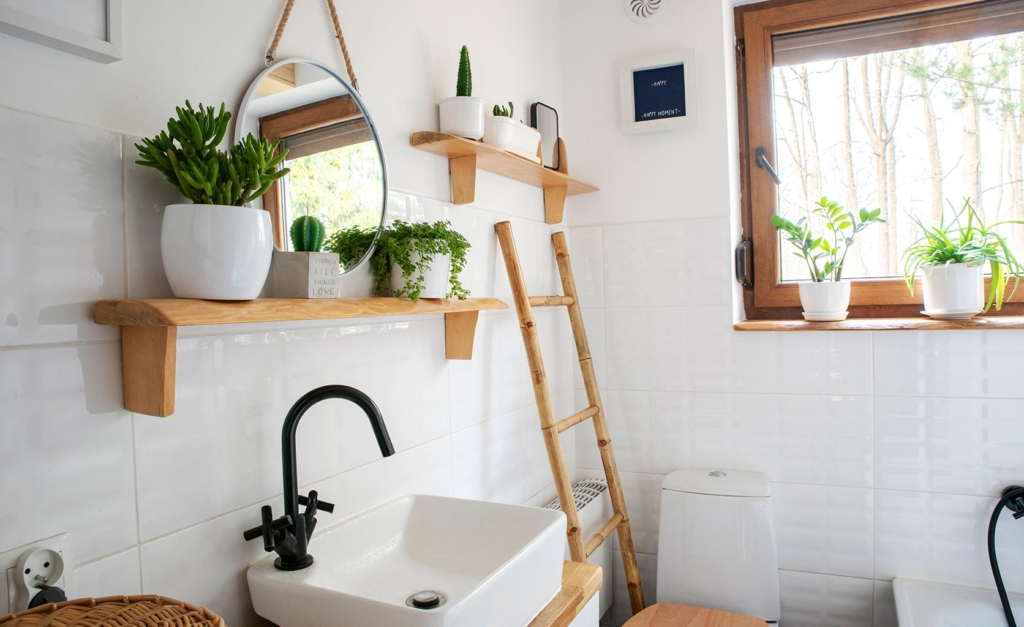Decoración baño sostenible