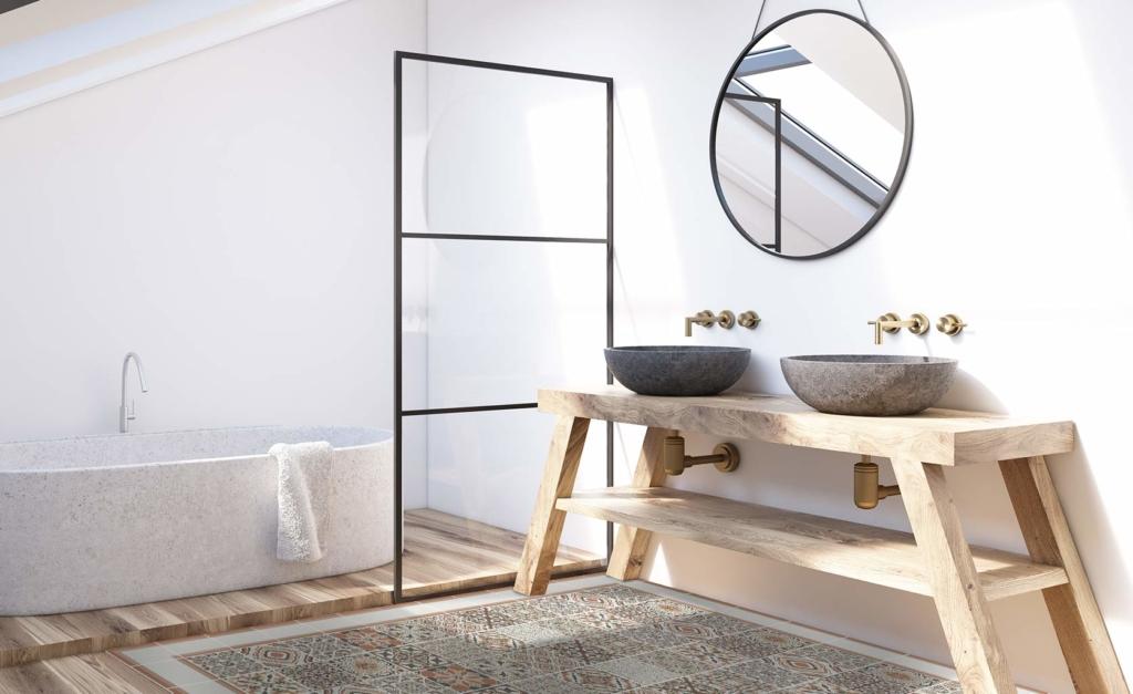 Tendencia decoración baño spa