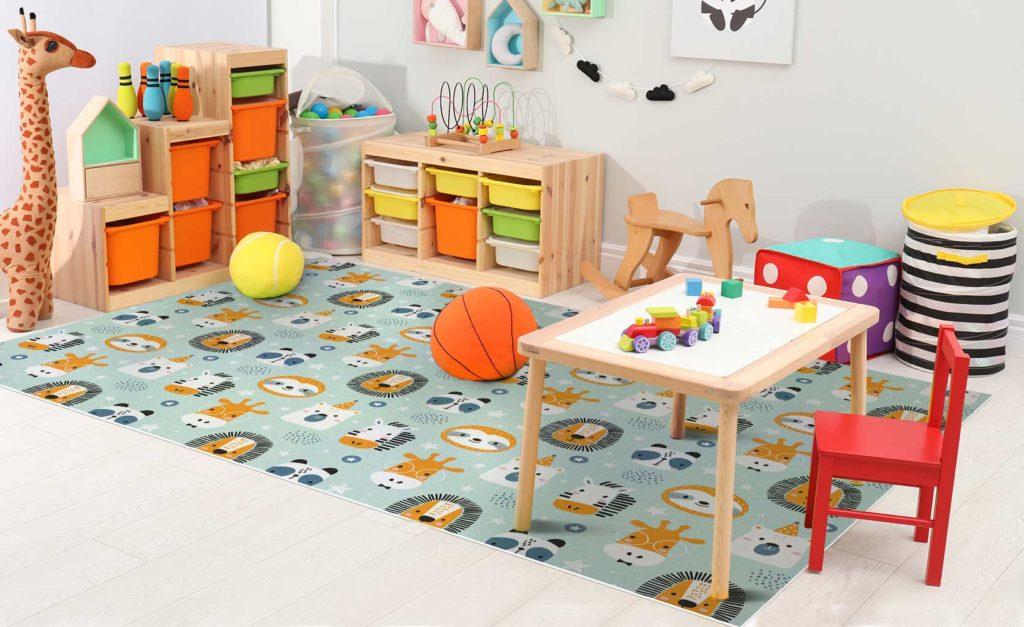 Decoración infantil alfombra vinílica
