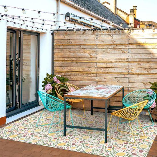 Terraza alfombra vinílica Laina