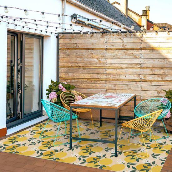 Terraza alfombra vinílica Lemon