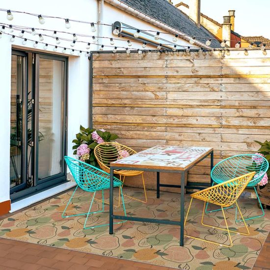 Terraza alfombra vinílica Fruits textura